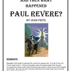 And Then What Happened, Paul Revere? packet