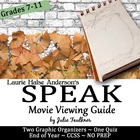Anderson&#039;s Speak Movie Graphic Organizers Bundle - End of Year!