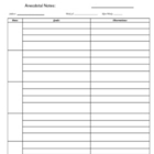 Anecdotal Notes Page for EC documentation of IEP goals