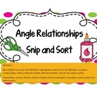 Angle Relationships Cut and Paste Activity