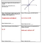 Angle Relationships using Algebra