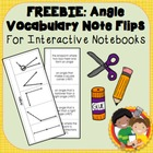 Angle Vocabulary Flips and Quiz - Geometry