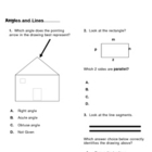 Angles and Lines test for 4th Grade Math