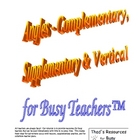 Angles - Complementary, Supplementary, & Vertical for Busy
