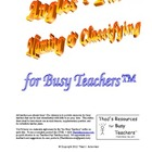 Angles - Parts, Naming &amp; Classifying for Busy Teachers