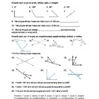 Angles and Angle Relationships Practice