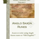Anglo Saxon Writing Runes Activity