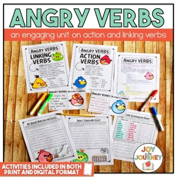 """Angry VERBS"" Activity Packet"