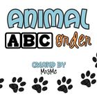 Animal ABC Order-Practicing ABC Order