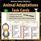 Animal Adaptations Task Cards - Set of 32 Science Brain Builders