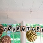Animal Adventure Banner Letters Classroom Decor