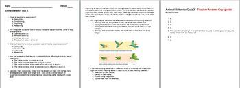 Animal Behavior Quiz 2