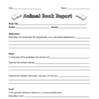 Animal Book Report with Project Grid