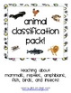 Animal Classification Pack- Describing 6 Animal Classes