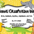 Animal Classifications Unit- Common Core