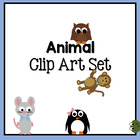 Animal Clip Art Set: Elephants, Penguins, Mice, Bunnies, F