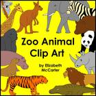 Animal Clip Art: Zoo Animals