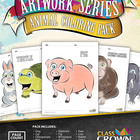 Animal Coloring Book - Coloring Pack - Color, Artwork, Fun