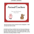 Animal Crackers File Folder Game - Sorting Farm and Wild Animals