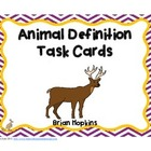Animal Definition (Vocabulary) Task Cards
