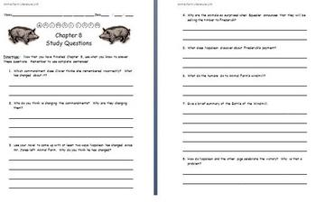 Animal Farm - Study Questions (Chapter Eight)