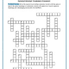 Animal Farm: Synonym Antonym Vocab Crossword--Use with Boo