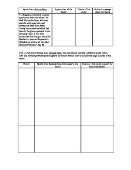 Animal Farm Themes Graphic Organizer