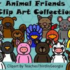 Animal Friends Clip Art Collection-Commercial Use- Headshots