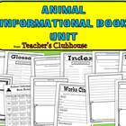 Animal Informational Book Unit from Teacher's Clubhouse
