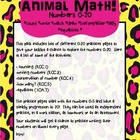 Animal Numbers Pack 0-20