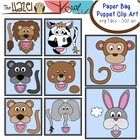 Animal Paper Bag Puppet Clip Art Set: Clip Art Graphics fo