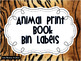 Animal Print Book Bin Labels