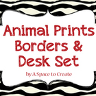 Animal Print Borders & Frames, Clip Art for Commercial Use