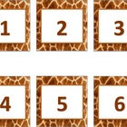 Animal Print Calendar Numbers