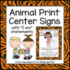 Animal Print Center Signs