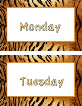 Animal Print (Days of the Week)