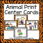 Animal Print Pocket Chart  Center Cards