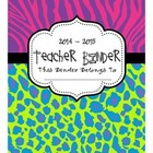 Animal Print Teacher Binder, Divider Pages, and More!