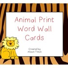 Animal Print Word Wall Headers