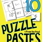 Animal Puzzle Pastes - Cut Paste Worksheets for Numbers