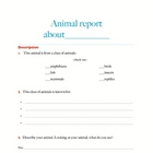 Animal Report template and concept map