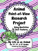 Animal Research Project ~ Nonfiction Text Features ~ Anima
