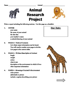 Animal Research Project - Step by Step