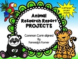 Animal Research Report Projects~Aligned to the Common Core