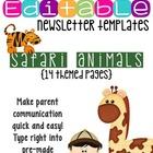 Newsletter Templates: Animal Safari Theme