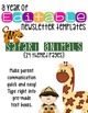 Animal Safari Themed Classroom Newsletters