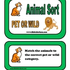 Animal Sort - Pet or Wild