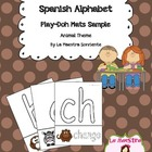 Animal Themed Alphabet Play-Doh Mats Preview (Spanish)