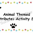Animal Themed Attributes Activity Set