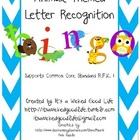 Animal Themed Letter Recognition Bingo